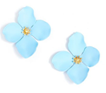 Garden Party Statement Earring, Blue