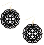 Allure Drop Earring, Black (available in other colors)
