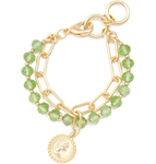 Chain and Lucite with Coin Charm Bracelet